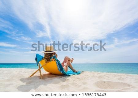 ビーチ 表示 地中海 海 海 青 ストックフォト © hamik