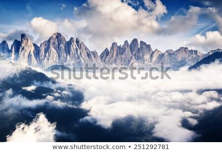 Muhteşem görmek mavi gökyüzü gökyüzü kar dağ Stok fotoğraf © stefanoventuri
