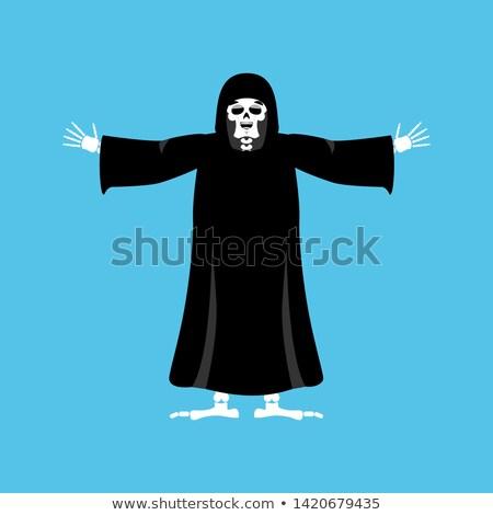 Grimmig gelukkig dood vrolijk skelet zwarte Stockfoto © popaukropa
