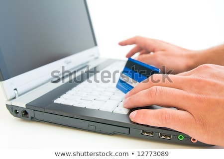 Online credit transaction - shallow dof  Stock photo © danielgilbey