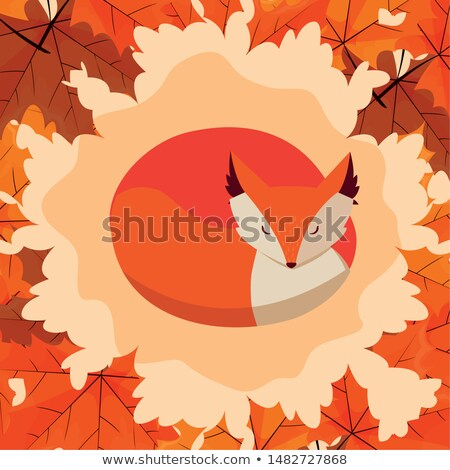 венок · дуб · листьев · декоративный · вектора · осень - Сток-фото © barbaliss