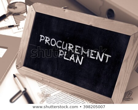 Procurement Management on Chalkboard in the Office. 3D. Stock photo © tashatuvango