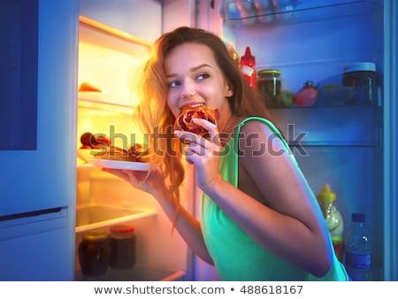 Dieta forma mão longe seguro geladeira Foto stock © Olena