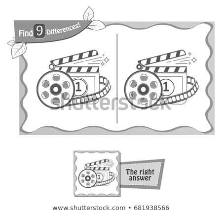 ゲーム 見つける 違い 映画 子供 大人 ストックフォト © Olena