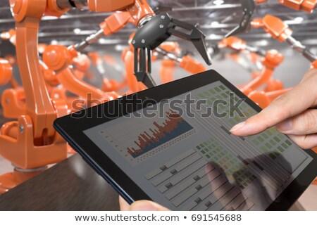 industry 40 concept on laptop screen 3d stock photo © tashatuvango