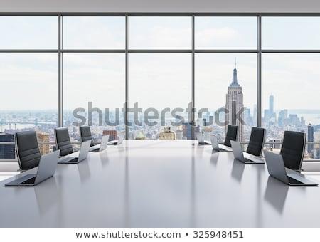 ビジネス 協力 ノートパソコン 会議室 3D 現代 ストックフォト © tashatuvango