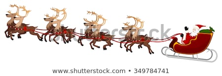 Santa and his Flying Sleigh and Reindeer Stock photo © Krisdog