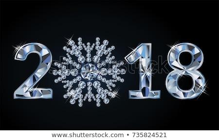 új év gyémánt hópehely üzlet boldog Stock fotó © carodi