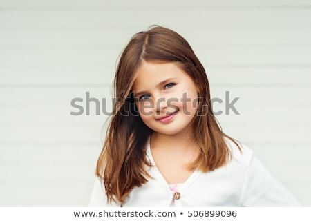 Portrait of 9 year old girl Stock photo © IS2