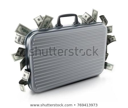 Businessman with briefcase full of money. Stock photo © RAStudio
