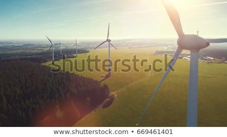Field of wind turbines Stock photo © IS2