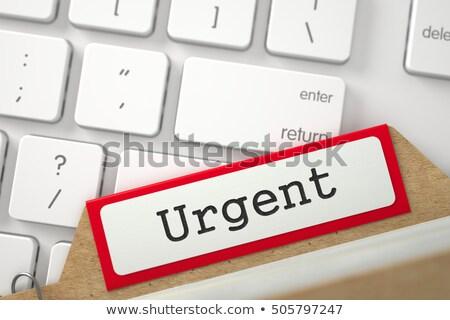 Tarjeta archivo urgente 3D palabra Foto stock © tashatuvango