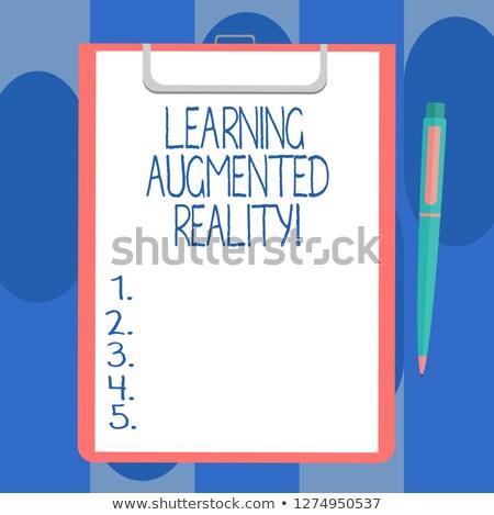 Online Learning - Text on Clipboard. 3D. Stock photo © tashatuvango