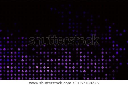 Vector poker purple background, playing card symbols pattern, blackjack stock photo © kurkalukas