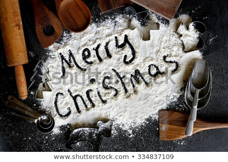 Alegre Navidad escrito harina edad Foto stock © StephanieFrey