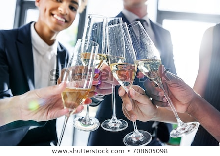 Emberek iszik pezsgő irodai emberek iroda férfi Stock fotó © IS2