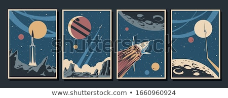 space rocket retro spaceship vector illustration Stock photo © konturvid
