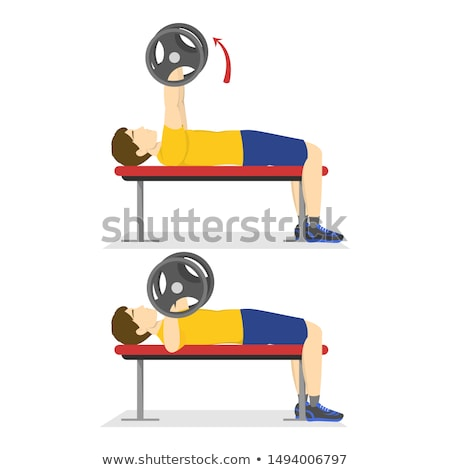 Barbell banc presse style équipements sportifs point Photo stock © kup1984
