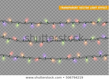 Merry christmas bulb yellow garland. Stock photo © rwgusev