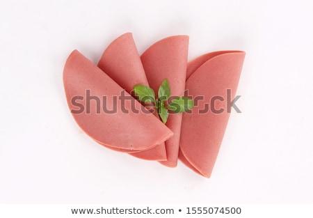 dilimleri · domuz · eti · jambon · ince · beyaz · plaka - stok fotoğraf © digifoodstock