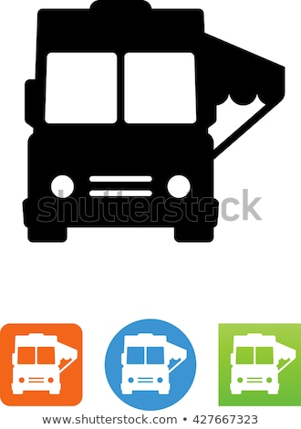 Truck front Color Vector illustration clip-art image Stock photo © vectorworks51