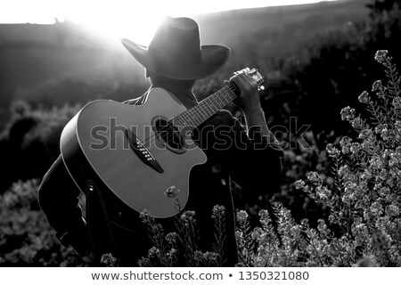 Cowboy with Guitar Stock photo © keeweeboy