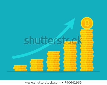 Bitcoin colunas dourado moedas Foto stock © stevanovicigor