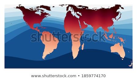 Vierkante wereldkaart atlas ongebruikelijk vorm aarde Stockfoto © popaukropa