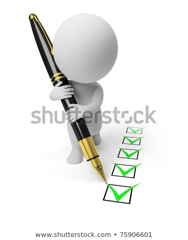 3d small people   questionnaire stock photo © anatolym