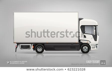 Trucks vector mock-up. Stock photo © YuriSchmidt