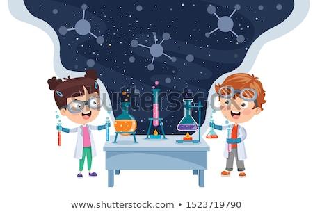 мало · ребенка · ученого · лаборатория · Cute · мужчины - Сток-фото © dotshock