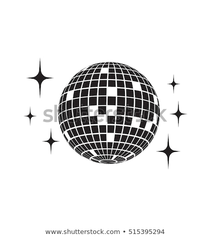 Disco ball with star shapes Stock photo © Sonya_illustrations