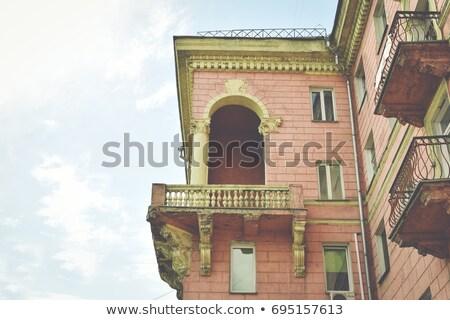 окна балкона внешний стены домой Сток-фото © OleksandrO