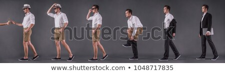 side view of a casual man taking off his glasses  Stock photo © feedough