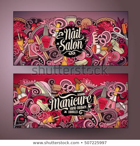 Banner for a beauty salon 2 Stock photo © Olena