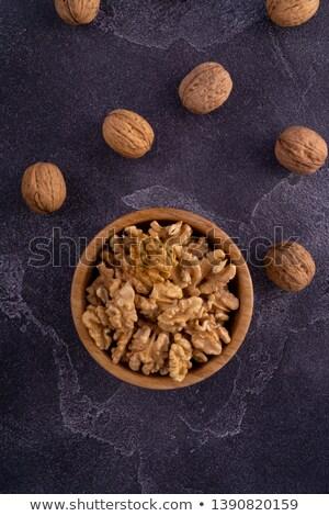 kom · geheel · groep · vers · zaad · noten - stockfoto © digifoodstock
