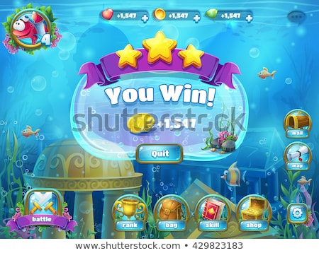 Winner game element with sword Stock photo © studioworkstock