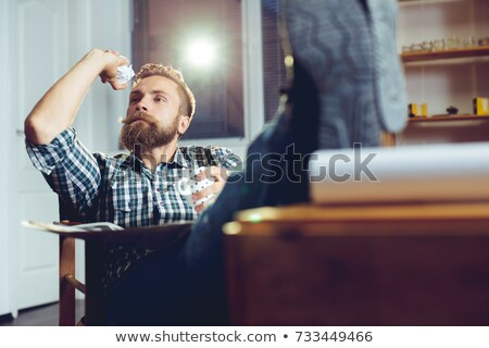 Businessman throwing papers Stock photo © IS2