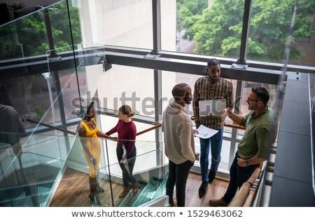 ストックフォト: 階段の吹き抜け · ビジネス · 女性 · 通信 · 女性