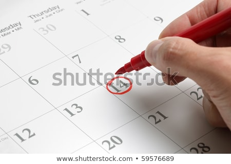 Circle mark important day and reminder calendar. Stock photo © vinnstock