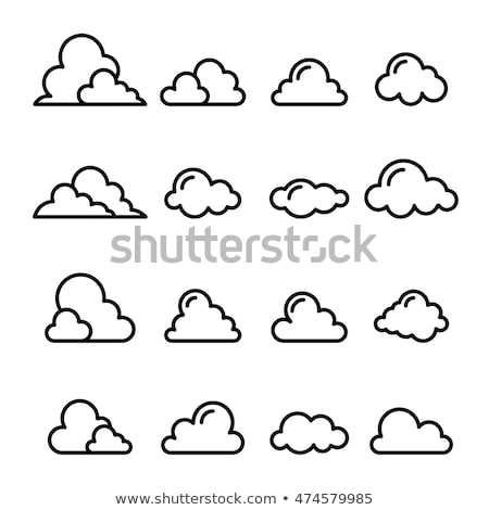 ícone nuvem linha estilo negócio computador natureza Foto stock © taufik_al_amin