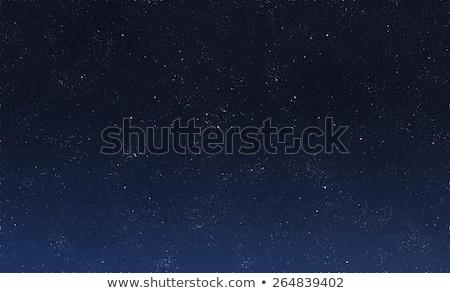 Niebieski ciemne nieba gwiazdki wiele księżyc Zdjęcia stock © vapi