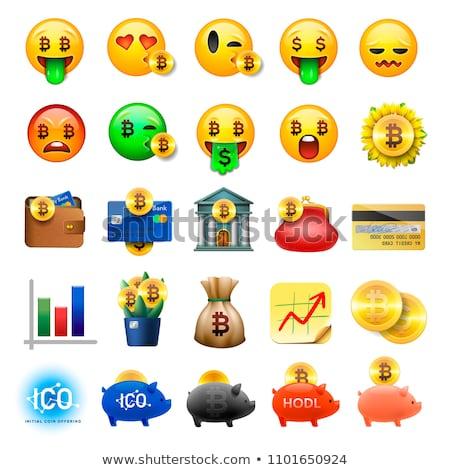 Bitcoin Sign Eyes Emoticon Emoji Stock photo © Krisdog