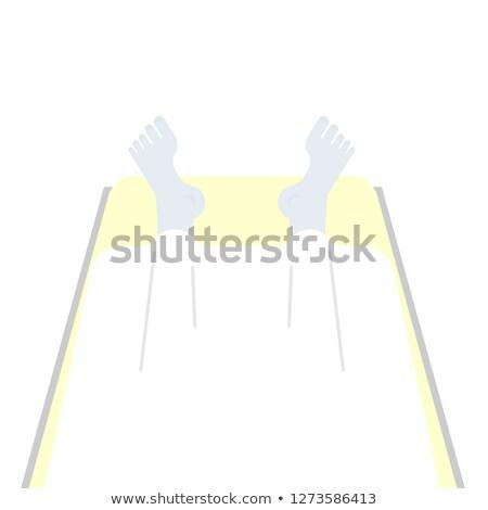 Lijk lijkenhuis man vel dode top Stockfoto © popaukropa