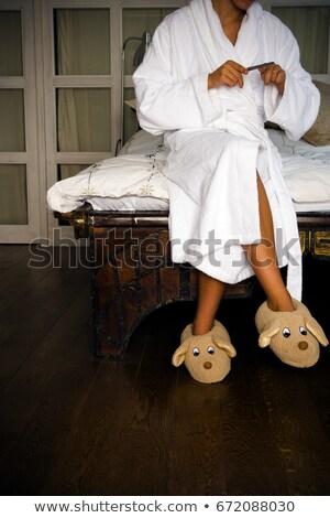 Vrouw speelgoed slippers nagels leuk Stockfoto © IS2