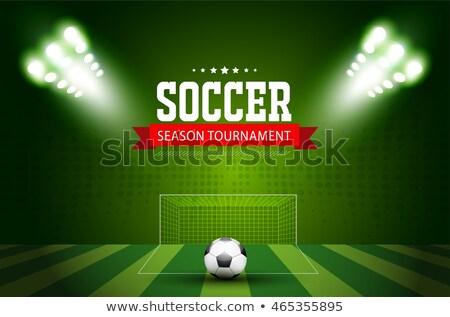 Fútbol juego torneo deportes verde mundo Foto stock © SArts