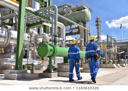 Petrochemical factory - manufacturing plant of chemical industry Stock photo © gomixer