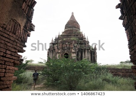 Bagan Archaeological Museum and buddhist temples. stock photo © romitasromala