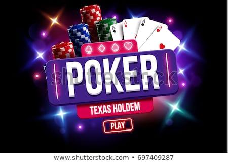 Cassino ilustração roleta pôquer cartões jogar Foto stock © articular