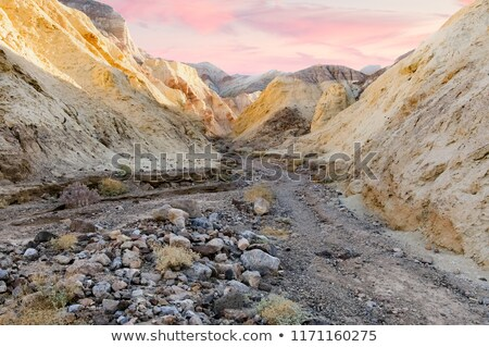 morning lights at golden canyon interpretive trail stock photo © yhelfman